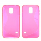 "Creative ""S"" Style Protective TPU Back Case for Samsung Galaxy S5 - Pink"