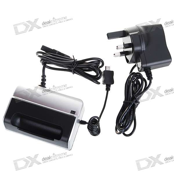 USB/AC Cradle Charging Dock for Blackberry 9630 (UK Plug/100~240V AC)