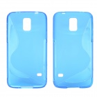 "Creative ""S"" Style Protective TPU Back Case for Samsung Galaxy S5 - Blue"