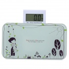 VBS110 Convenient Mini Digital Body Scale - White + Purple (1 x CR2032)
