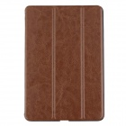 Ultra Thin Protective PU Leather Case Cover Stand w/ Auto Sleep for iPad Mini 1 / 2 - Brown