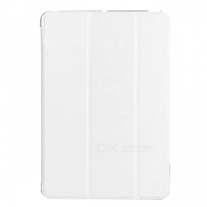 Crazy Horse Pattern Ultra Thin Protective PU Case w/ Stand / Auto Sleep for IPAD MINI 1/2 - White