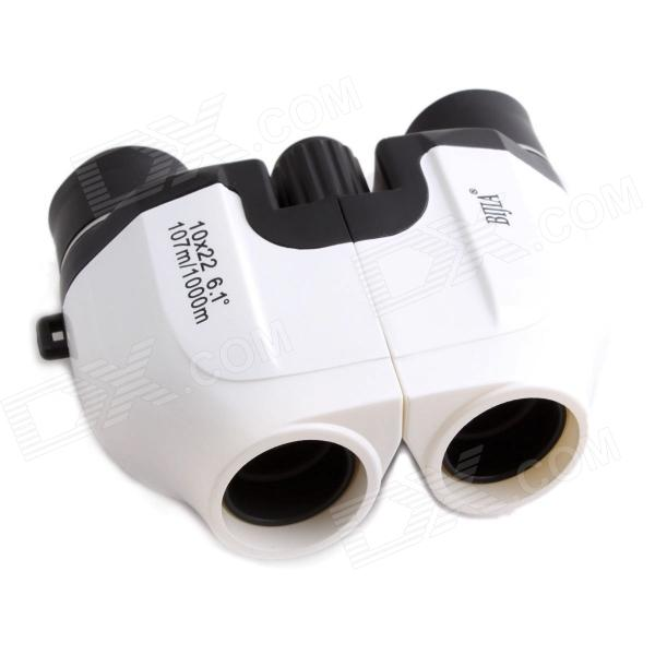 BIJIA 10x22 Waterproof Ultra-clear High-powered Night Vision Binoculars - Black + White