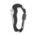 Multifunction Stainless Steel Climbing Carabiner + Knife + Screwdriver - Black + Silver