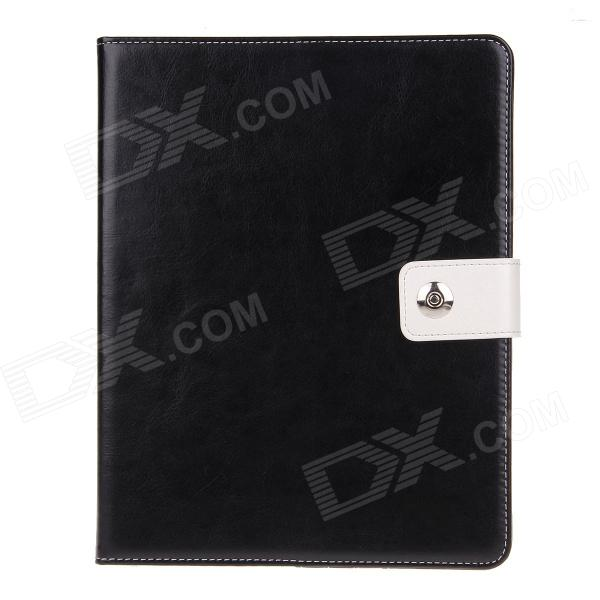 Stylish PU Leather Card Holder Stand Case Cover w / Auto Sleep/wake Function for IPAD 2/3/4 - Black