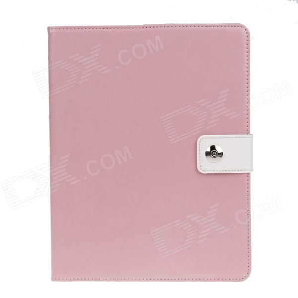 PU Leather Card Holder Stand Case Cover w / Auto Sleep / Wake Function for IPAD 2 / 3 / 4 - Pink multi function pu leather case vent holes sound amplifier for ipad 3 4 orange