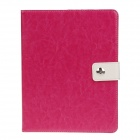 Stylish PU Leather Card Holder Stand Case Cover w / Auto Sleep / Wake Function for iPad 2 / 3 / 4
