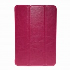 3-fold Protective Flip-open PU Leather Cover + PC Protection Cover for IPAD MINI 2 - Deep Pink