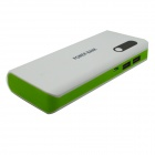 JY-45 ''16800mAh'' Mobile External Power Source Battery Charger - White + Green