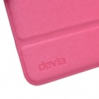 Devia Moge Protective PU Leather Case Cover w/ Special Soft Foldable Stand for IPAD MINI - Deep Pink