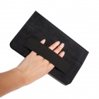 ZIQIAO SJ-HS001 Protective PU Leather Case w/ Hand Strap Holder for Asus Memopad HD 8 ME180A - Black