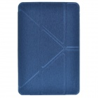 Devia Moge Protective PU Leather Case Cover w/ Special Soft Foldable Stand for IPAD MINI - Deep Blue