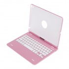 BK-Z66 360 Degree Rotation Bluetooth V3.0 64-Key Keyboard for IPAD AIR - Pink