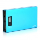"0.8"" LCD 12000mAh Dual USB Mobile Power Source Bank w/ LED for IPHONE / Samsung / HTC - Blue"