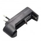 Single-Slot Battery Charger for 3.6V / 3.7V 18650, 14500, 17500, 16340 (100~240V / EU Plug)