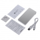 Parkman T100 10000mAh Dual-USB Mobile Power Source Bank for IPHONE + More - White + Bronze
