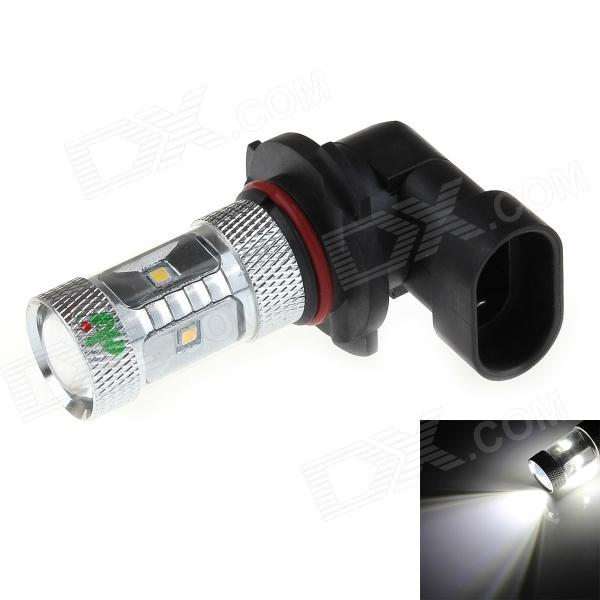 HJ-023-8W 9006 8W 6500K 800LM White Light LED SMD 2323 w / lentille convexe Light Car
