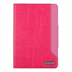Remax Protective PU Leather + PC Case Stand w/ Auto Sleep Cover for IPAD AIR - Deep Pink