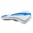 Body Comfortable Bicycle Saddle Seat - White + Blue