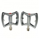 CK-018 Super Light Magnesium Alloy Anti-Skid Bicycle Pedals - Silver (Pair)