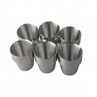 7-i-1 rustfritt stål Mot Hot Coffee / melk / øl / vann Cup Set-Silver (300 ml)