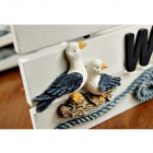 Wooden Hanging Welcome Board - White