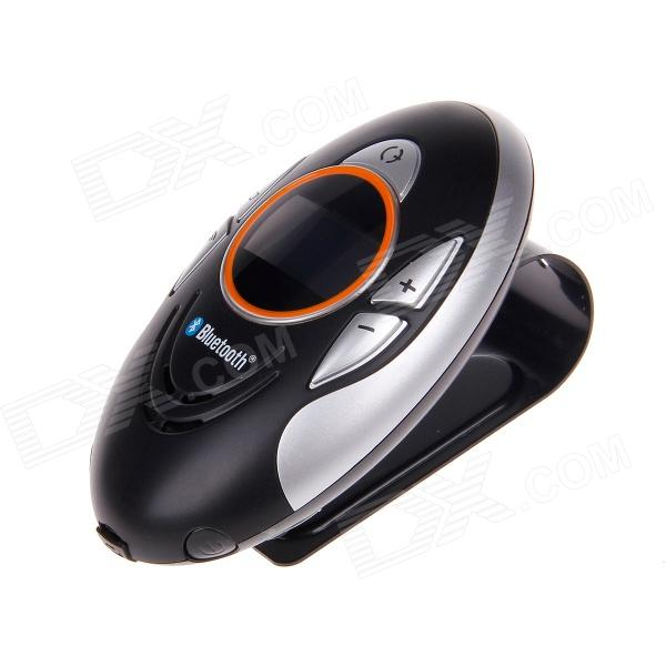 BT8110 1 Screen Bluetooth V2.0 Caller ID + Rechargable Car Hands-free Speaker - Black + Silver