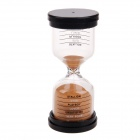 Creative Hourglass Sand Timer - Black + Transparent