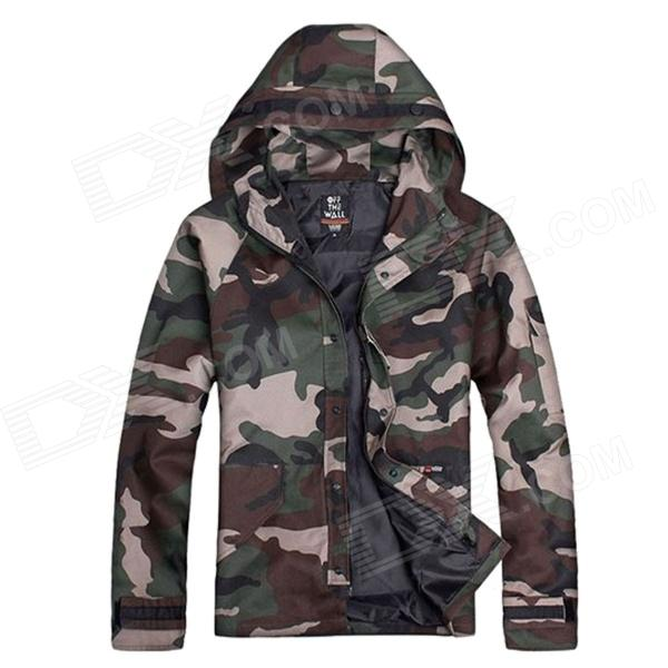 Waterproof Windproof Outdoor  Hooded Trench Jacket - Camouflage (Size L)
