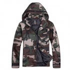 Waterproof Windproof Outdoor Hooded Trench Jacket - Camouflage (Size XL)