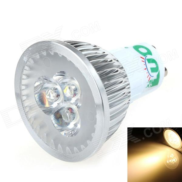 LUO V02 GU10 3W 300lm 3000K 3-LED Warm White Light Spotlight - Silver (95-245V)