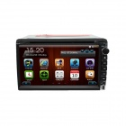 "LsqSTAR Universal 6,95 ""2 DIN Win CE 6.0 Bil Central Multimedia m / GPS, AUX, RDS, TV, 6CDC, SWC, Dual Zone"