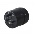 AYA-K3 Universal Cylindrical Retractable Travel Power Plug Adapter - Black (100~250V)