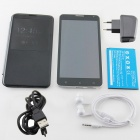 "W550 MTK6582 Quad-core Android 4.2.2 WCDMA Bar Phone w/ 5.5"" IPS, FM, Wi-Fi and GPS - Black"