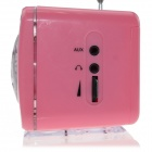 L-908RS Portable MP3 Player Speaker w/ FM / SD / TF / USB / Multi-Color LED - Pink