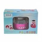 Go Voc LED Light Portable Media Player Speaker w/ FM / TF / Mini USB - Transparent + Deep Pink