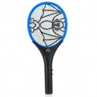 iDtad IDT-006 Electric Rechargeable Fly Swatter Mosquito Killer Racket - Grey + Blue