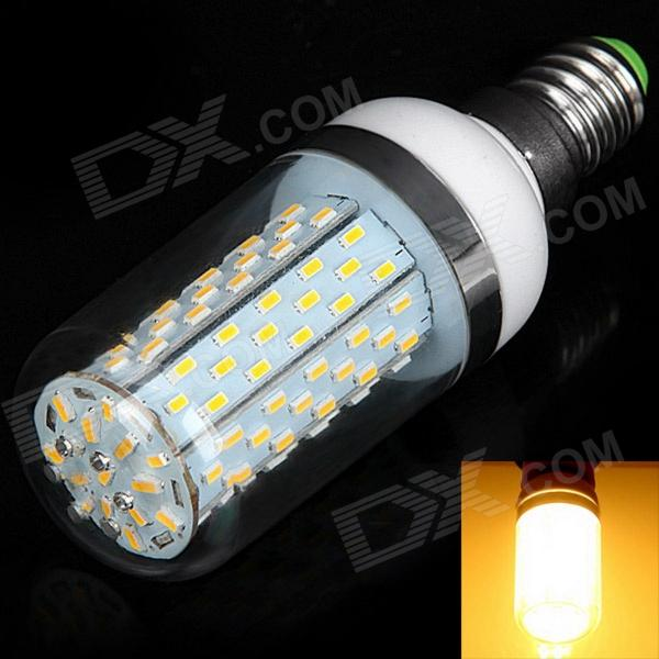 E14 12W 520lm 3000K 120-SMD 3014 LED Warm White Light Corn Lamp (85~265V) gc e14 3w 170lm 3000k 64 3014 smd led warm white light corn bulb ac 90 240v