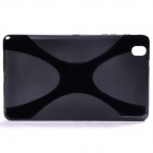 """X"" Style Anti-Slip Protective TPU Back Case for Samsung Galaxy Tab 3 Pro 8.4 - Black"