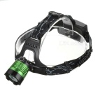 SingFire SF-559 CREE XM-L T6 750lm 4-Mode White Zooming Headlamp - Black + Green (2 x 18650)