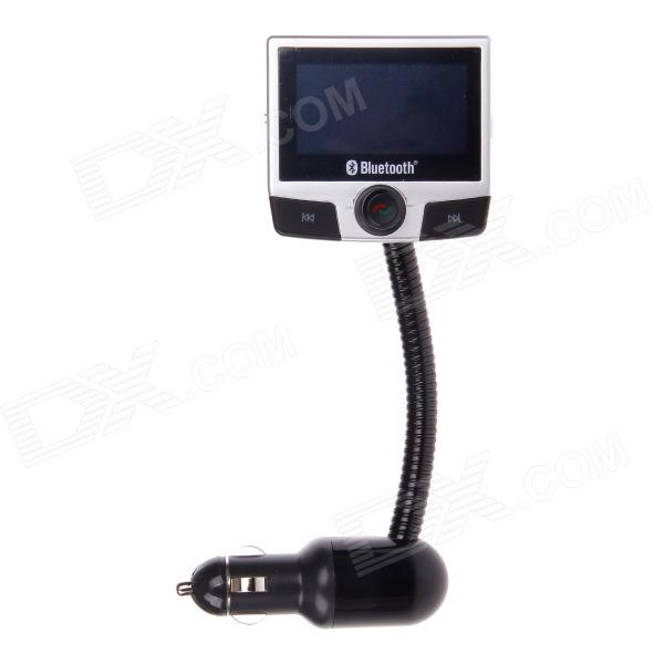 FM8112B 2.4 Screen MP3 Player Bluetooth V2.0 Car Kit w/ FM Transmitter - Black + Silver