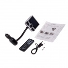 "FM8112B 2.4 ""Kit Tela MP3 Player Bluetooth V2.0 Car w / FM Transmitter - Preto + Prata"