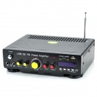 TZ-800 100W 2-CH Hi-Fi Amplifier MP3 Player w/ SD / USB for Car / Motorcycle - Black