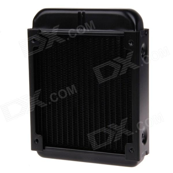 WT-006 Aluminum Radiator / Cooling Gear - Black black paint efficient heat exchange water cooling radiator 10 tube number vacuum aluminum brazing for computer cpu