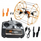 Brilink BH05 4-CH 2.4G Quadcopter Flight/Ground Walking/Wall Climbing w/ Gyro - Orange + Black