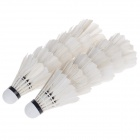 Shuangyanfeifei SYFF-200 Sport Badminton Goose Feather Shuttlecocks - White (12 PCS)