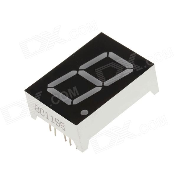"8011BS 1.3 ""de 1 bit Ánodo común Rojo LED Digital Display de 7 segmentos - Negro + blanco (5 PCS)"