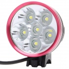 ZHISHUNJIA 3000lm 3-Mode White Bicycle Light - Black + Red (6 x 18650)