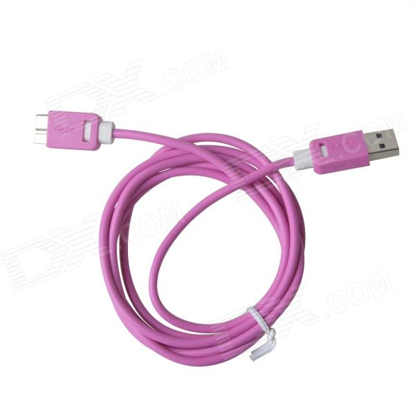 KS-318 High Speed USB 3.0 to Micro-B Data Charging Cable for Samsung Galaxy Note 3 - Deep Pink super long usb data charging cord charger cable for samsung galaxy tab2 p5100 and note 10 n8000 p7510 p1000 p7300 10ft 3m
