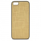 iLeAD i-2002 Protective Aluminum Alloy + PC Back Case for IPHONE 5 / 5S - Golden
